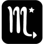 šablona za izradu airbrush ili glitter privremene tetovaže ŠKORPION - SCORPIO (paket od 5 kom)