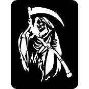 šablona za izradu airbrush ili glitter privremene tetovaže GRIM REAPER - SMRT (1 kom)