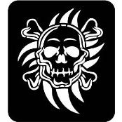 šablona za izradu airbrush ili glitter privremene tetovaže LUBANJA TRIBAL (paket od 5 kom)