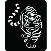 šablona za izradu airbrush ili glitter privremene tetovaže TIGAR (1 kom)
