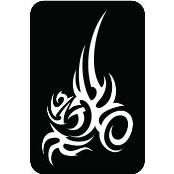 šablona za izradu airbrush ili glitter privremene tetovaže TRIBAL 4 (paket od 5 kom)