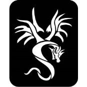 šablona za izradu airbrush ili glitter privremene tetovaže ZMAJ 13 (paket od 5 kom)