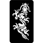 šablona za izradu airbrush ili glitter privremene tetovaže ZMAJ 7 (1 kom)