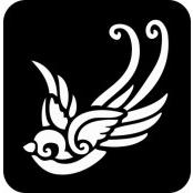 šablona za izradu airbrush ili glitter privremene tetovaže LASTA 2 (paket od 5 kom)