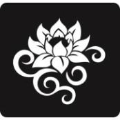 šablona za izradu airbrush ili glitter privremene tetovaže LOTUS 3 (paket od 5 kom)
