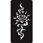 šablona za izradu airbrush ili glitter privremene tetovaže LOTUS 2 (paket od 5 kom)
