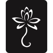 šablona za izradu airbrush ili glitter privremene tetovaže LOTUS MALI (paket od 5 kom)