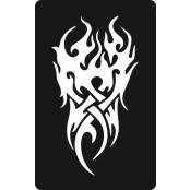 šablona za izradu airbrush ili glitter privremene tetovaže TRIBAL 7 (1 kom)