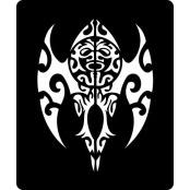 šablona za izradu airbrush ili glitter privremene tetovaže MAORI (1 kom)