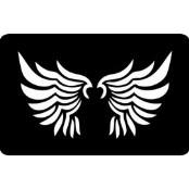 šablona za izradu airbrush ili glitter privremene tetovaže KRILA (paket od 5 kom)