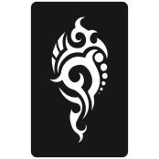 šablona za izradu airbrush ili glitter privremene tetovaže TRIBAL 8  (paket od 5 kom)