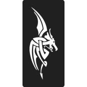 šablona za izradu airbrush ili glitter privremene tetovaže ZMAJ 14 (1 kom)