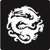 šablona za izradu airbrush ili glitter privremene tetovaže ZMAJ 15 (1 kom)