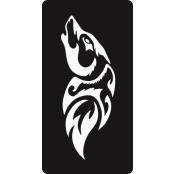 šablona za izradu airbrush ili glitter privremene tetovaže VUK 4 (paket od 5 kom)