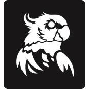 šablona za izradu airbrush ili glitter privremene tetovaže PAPIGA 2 (paket od 5 kom)