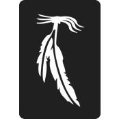 šablona za izradu airbrush ili glitter privremene tetovaže PERO (paket od 5 kom)