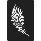 šablona za izradu airbrush ili glitter privremene tetovaže PERO 2 (paket od 5 kom)