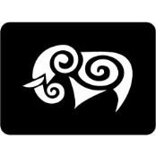 šablona za izradu airbrush ili glitter privremene tetovaže SLON TRIBAL (paket od 5 kom)