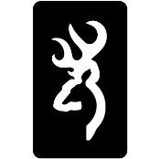 šablona za izradu airbrush ili glitter privremene tetovaže JELEN MALI (paket od 5 kom)