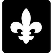 šablona za izradu airbrush ili glitter privremene tetovaže FLEUR DE LIS (paket od 5 kom)