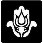 šablona za izradu airbrush ili glitter privremene tetovaže HAMSA DLAN (paket od 5 kom)