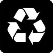šablona za izradu airbrush ili glitter privremene tetovaže RECIKLAŽA SIMBOL (paket od 5 kom)