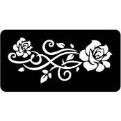 šablona za izradu airbrush ili glitter privremene tetovaže RUŽA  18 (paket od 5 kom)