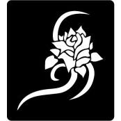 šablona za izradu airbrush ili glitter privremene tetovaže RUŽA 20 (paket od 5 kom)