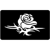 šablona za izradu airbrush ili glitter privremene tetovaže RUŽA 21 (paket od 5 kom)