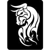 šablona za izradu airbrush ili glitter privremene tetovaže BIK 2 (paket od 5 kom)