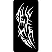 šablona za izradu airbrush ili glitter privremene tetovaže TRIBAL 9 (1 kom)