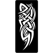 šablona za izradu airbrush ili glitter privremene tetovaže TRIBAL 10 (1 kom)