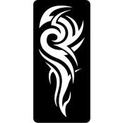 šablona za izradu airbrush ili glitter privremene tetovaže TRIBAL 11 (1 kom)