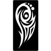 šablona za izradu airbrush ili glitter privremene tetovaže TRIBAL 12 (1 kom)