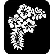 šablona za izradu airbrush ili glitter privremene tetovaže HIBISCUS XXL (1 kom)