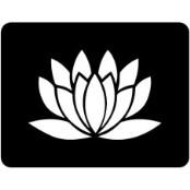 šablona za izradu airbrush ili glitter privremene tetovaže LOTUS 4  (paket od 5 kom)