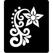 šablona za izradu airbrush ili glitter privremene tetovaže RUŽA 22 (paket od 5 kom)
