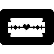šablona za izradu airbrush ili glitter privremene tetovaže ŽILETKA (paket od 5 kom)