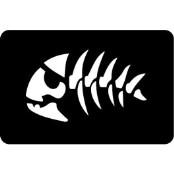 šablona za izradu airbrush ili glitter privremene tetovaže FISHBONE (paket od 5 kom)