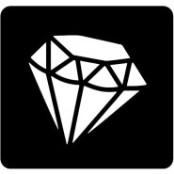 šablona za izradu airbrush ili glitter privremene tetovaže DIAMANT (paket od 5 kom)