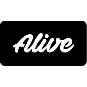 šablona za izradu airbrush ili glitter privremene tetovaže ALIVE (paket od 5 kom)