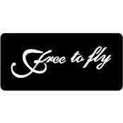 šablona za izradu airbrush ili glitter privremene tetovaže FREE TO FLY (paket od 5 kom)