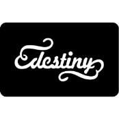 šablona za izradu airbrush ili glitter privremene tetovaže DESTINY (paket od 5 kom)