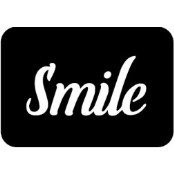 šablona za izradu airbrush ili glitter privremene tetovaže SMILE (paket od 5 kom)