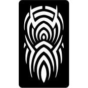šablona za izradu airbrush ili glitter privremene tetovaže TRIBAL 14 (1 kom)