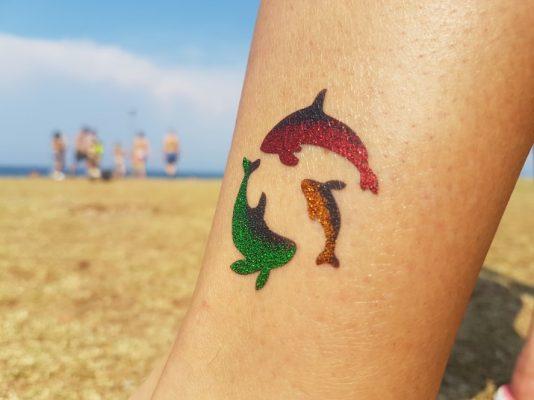 glitter airbrush privremene tetovaže