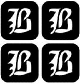 šablona za izradu airbrush ili glitter privremene tetovaže slova pismo B