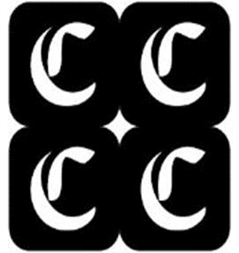 šablona za izradu airbrush ili glitter privremene tetovaže slova pismo C