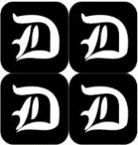 šablona za izradu airbrush ili glitter privremene tetovaže slova pismo D