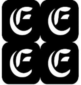 šablona za izradu airbrush ili glitter privremene tetovaže slova pismo E